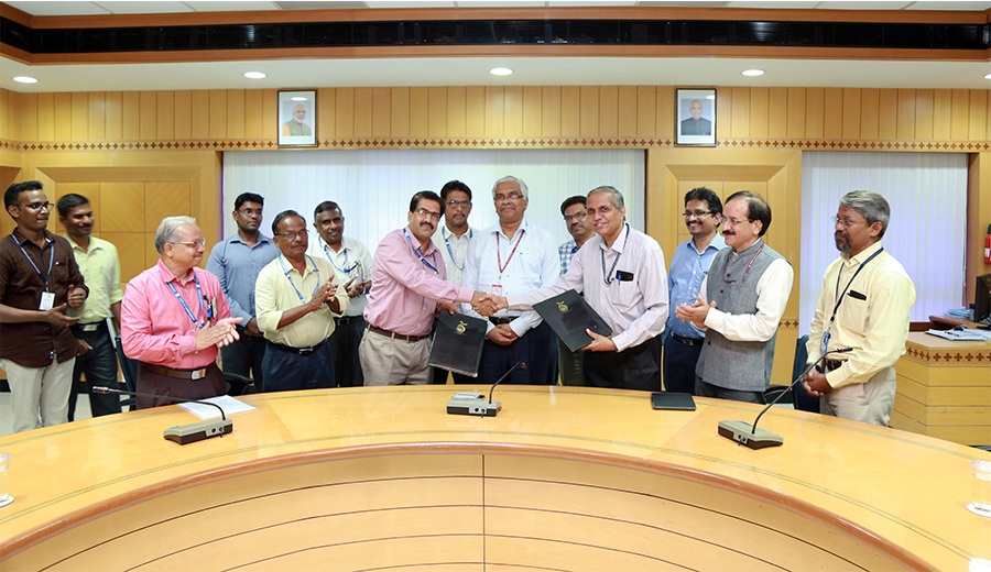 ICAR-CIBA Signs MoU with Ministry of Earth Sciences (ESSO)-NIOT at Chennai for technical partnership in the promotion of aquaculture in the country, on Sep. 25, 2018