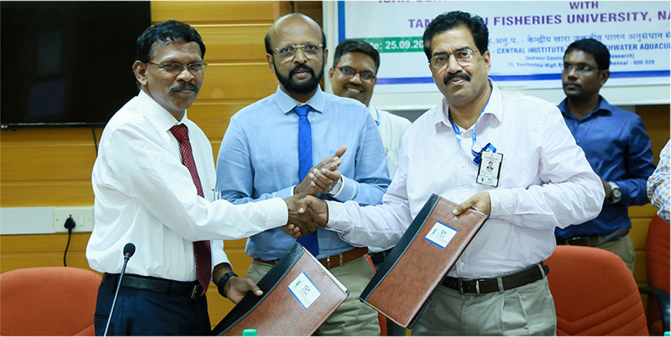 ICAR-CIBA and TNFU join hands for sustainable development of aquaculture