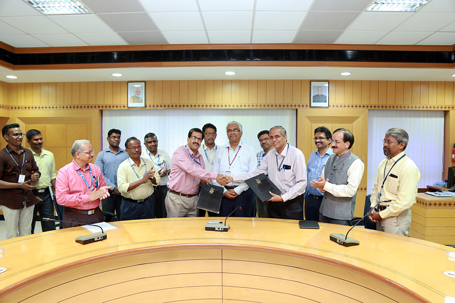 ICAR-CIBA Signs MoU with Ministry of Earth Sciences (ESSO)-NIOT at Chennai for technical partnership in the promotion of aquaculture in the country, on Tuesday Sep 25, 2018