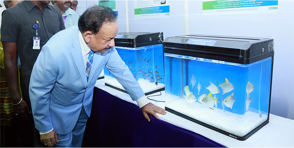 ICAR-CIBA participated in the national event and the exhibition elicited huge interest among the students, entrepreneurs and public in brackishwater aquaculture