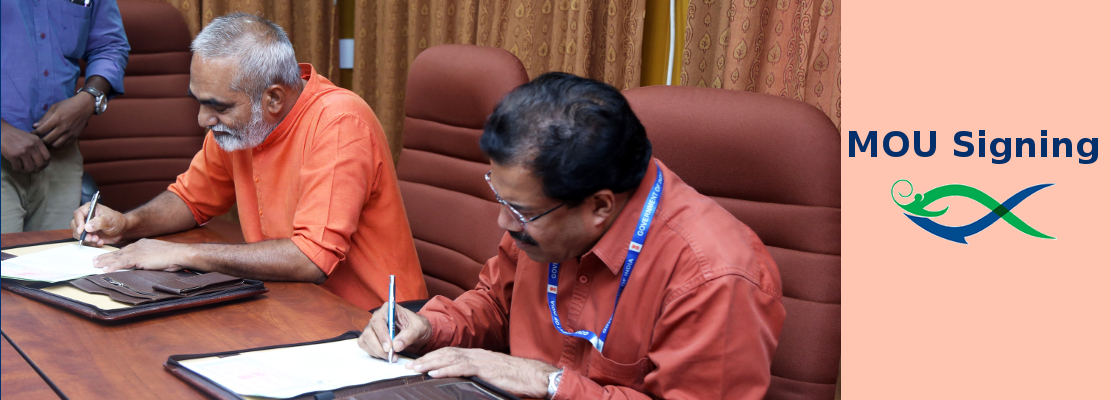 ICAR-CIBA Signed MOU With Aquafarmers Group – Aquaculture Development Cooperative Society (ADCOS), Payyanur, Kerala- For Capacity Development And Transfer Of Location Specific Brackishwater Aquaculture Technologies