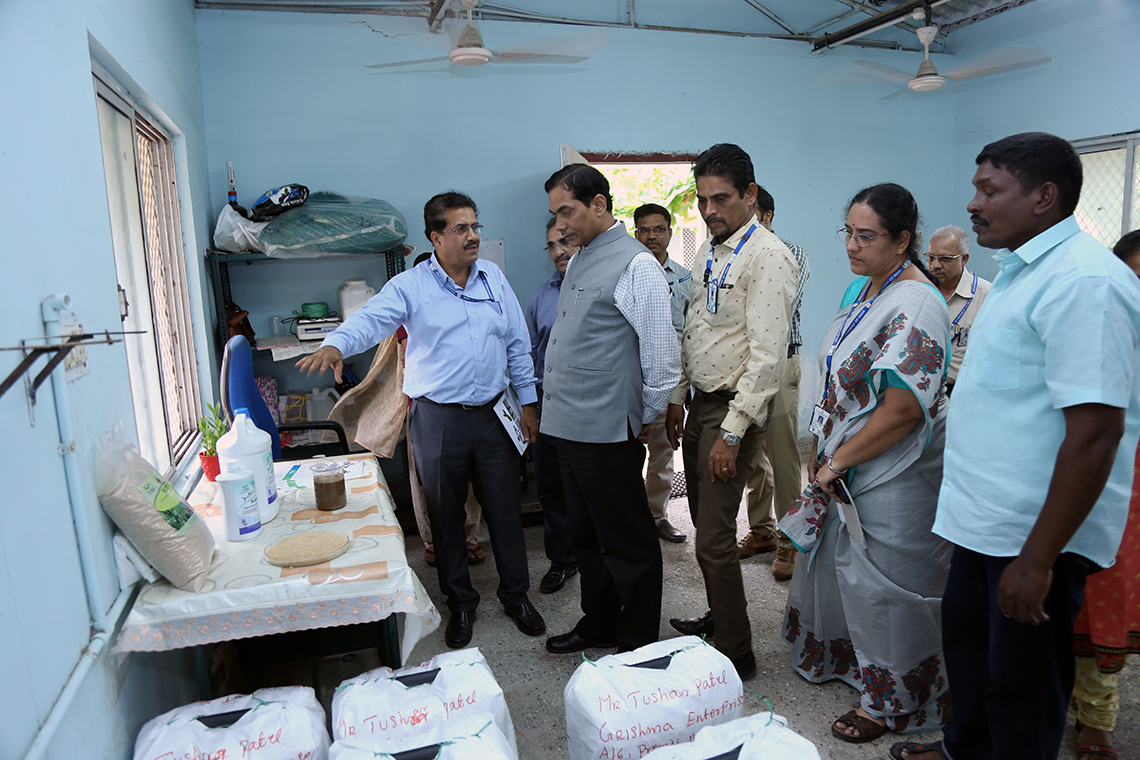 Dr. Trilochan Mohapatra, Hon'ble Secretary, DARE and DG, ICAR visited the promising start-up 'Fish Waste to Wealth' unit at ICAR-CIBA, Chennai, 7th August 2019; Honourable DG stressed the need of scaling up economically successful models at national level