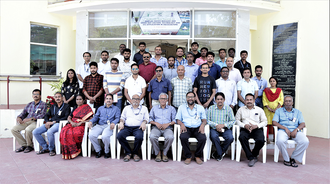 Hands-on Training Programme on 'Biofloc based nursery and grow-out culture technology and its application in aquaculture' Conducted ICAR-CIBA, Chennai
