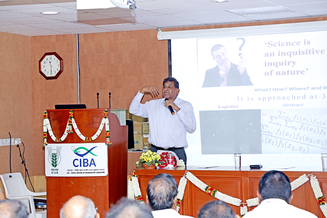 Bhatnagar awardee in Fishery biology Prof. TJ Pandian delivered SCAFI Lecture series edition on Fish breeding and Genetics, 1st October 2019 at ICAR-CIBA Chennai